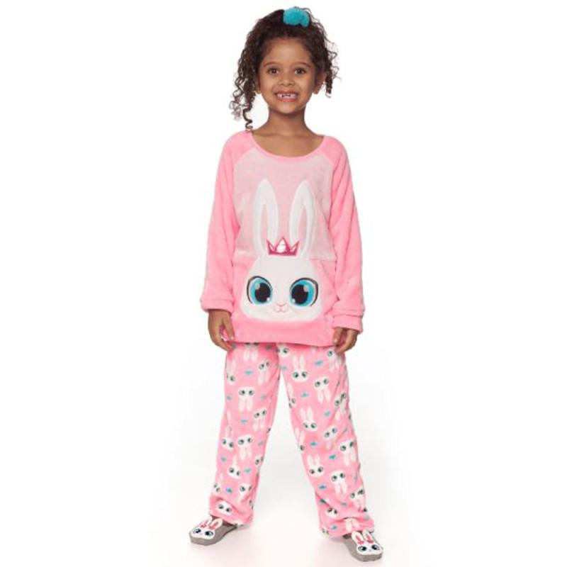 361685e95a Pijama Manga Longa Soft Kids Puket Coelha Bailarina Rosa MAR19- 030401909