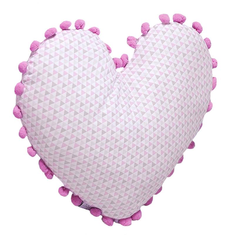 e0e587c1bc2ae3 Almofada Batistela Baby Formato de Coração Rosa - 79013
