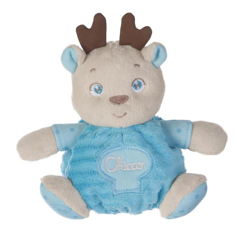 0ad0cba9dfb2c2 Brinquedo Bebê Urso Chicco Soft Cuddles Azul
