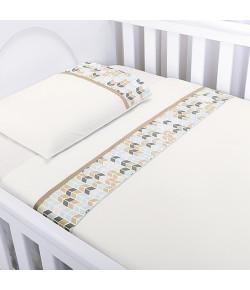 Jogo de Lençol Para Berço Batistela Baby Savana 3 Peças - 02035