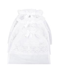 Saquinho Maternidade Batistela Baby Branco 3 Peças - 02564