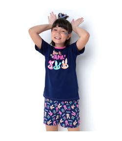 Short Doll Teen Puket Visco Eco Coelha Marinho INV21 030501811
