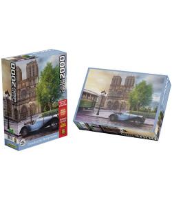 Quebra-Cabeça Grow Puzzle Catedral de Notre-Dame 2000 Peças 12+