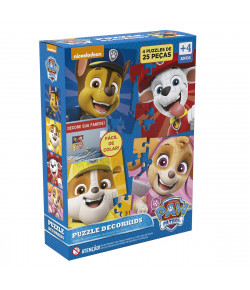 Quebra Cabeça Patrulha Canina 4 Puzzles 25 Pçs - Grow