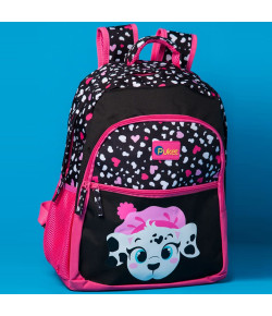 Mochila Escolar Puket Dálmata Pink MA18 - 050401246