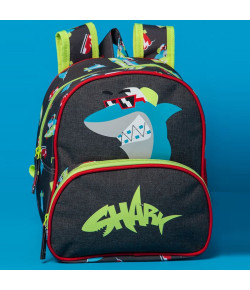 Mochila Escolar Pequena Puket Tubarão Cinza Chumbo MA18 - 050401249