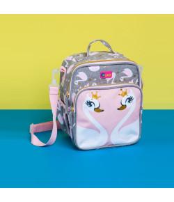 Lancheira Escolar Puket Cisne Cinza Claro - 050401476