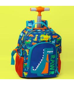 Mochila de Rodinhas Escolar Pequena Puket Azul - 050401487
