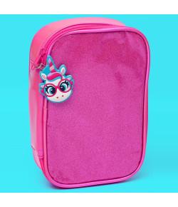 Estojo Grande Puket Unicórnio Glitter Pink - 050401668