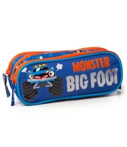 Estojo Triplo Escolar Puket Monster Car Azul V20 - 050401781