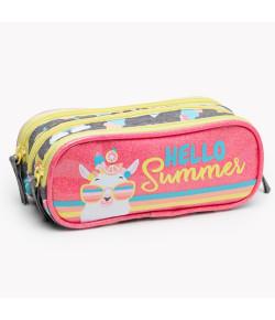 Estojo Triplo Pequeno Lhama Summer Puket Mescla Claro 050402380