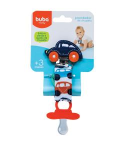 Prendedor de Chupeta Buba Baby Carrinho Azul Marinho - 08556