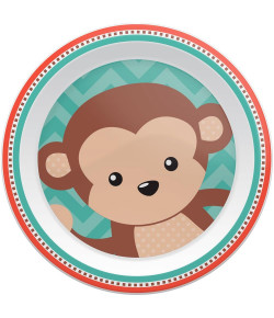 Pratinho Raso Buba Animal Fun Macaco - 08973