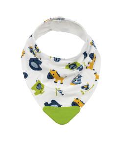 Bandana Baby com Mordedor Buba Zoo Verde - 09783