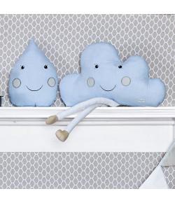Almofada Batistela Baby Nuvem e Gotinha 2 Peças Azul - 10001