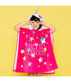 Toalha Infantil Poncho com Capuz Puket Unicórnio Rosa OUT18 - 100400188