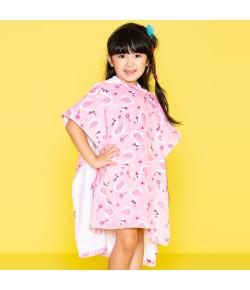 Toalha Infantil Poncho com Capuz Puket Cisne Rosa Bebê OUT18 - 100400189