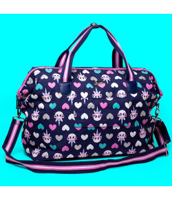 Bolsa Bag Grande Puket Unicórnio Azul Marinho - 100400205