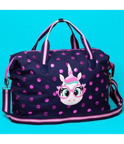 Bolsa Bag Grande Puket Unicórnio Poa Azul Marinho - 100400208