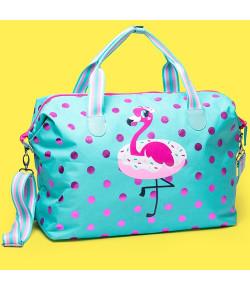 Bolsa Bag Grande Puket Flamingo Poa Verde Água - 100400211