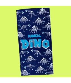 Toalha Retangular Puket Dino Esqueleto Azul Marinho SET18 - 100500022
