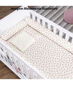 Kit Berço Batistela Baby Rolinho 07 Peças Flamingo (Padrão Americano) - 10089