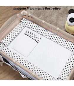 Kit Berço Cercadinho Batistela Baby Cruzinha Preto 6 Peças - 10090