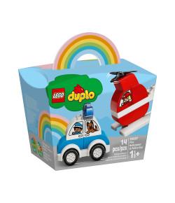 Lego Duplo Helicóptero dos Bombeiros e Carro de Polícia 10957