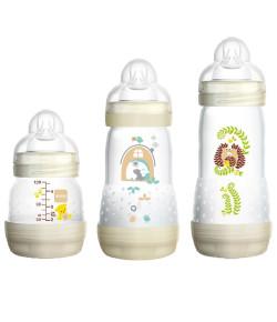 Kit 3 Mamadeiras Mam First Bottle 130ml+ 260ml+ 320ml Bege (4651+4653+4679)