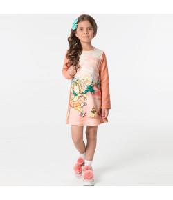 Vestido Manga Longa Marlan Cintilante Rosa INV19 - 24561