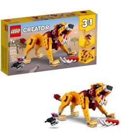 Blocos de Montar Lego Creator 3 em 1 Leão Selvagem 7+