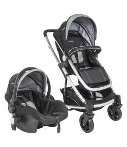 Carrinho de Bebê Travel System Winner + Bebê Conforto Pod Preto e Cinza Kiddo