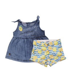 Conjunto Bata e Shorts Sleeping Pill Cute Lemon V19 - 40051