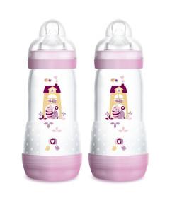 Mamadeira Mam First Bottle Easy Start 320ml Girls (Embalagem Dupla) - 4684