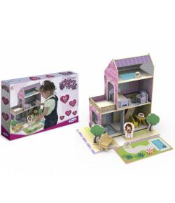 Quebra Cabeça 3D Xalingo Casinha de Madeira Little House Verão