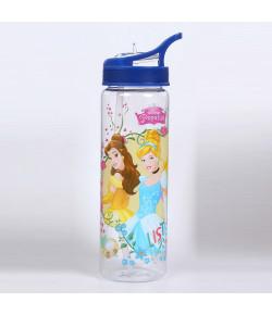 Garrafa Plástica Dermiwil Princesas Azul 670ml - 52103