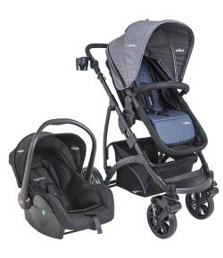 Carrinho de Bebê Travel System Kiddo Explorer Azul + Casulo Click