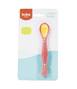 Colher Flexível Baby Buba Vermelho - 5248