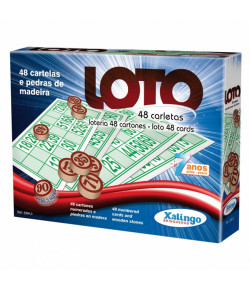 Jogo de Mesa Xalingo Loto 48 Cartões