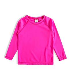 Camiseta Manga Longa Praia Tip Top Kids Pink