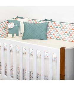 Kit Berço 10 Peças Batistela Baby Elephant (Padrão Americano) - 62989