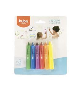 Risque e Apague para Banho Buba Colorido 3+ - 7473