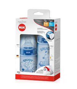 Kit 2 Mamadeiras Nuk My First 150ml/300ml Azul - PA7063-MB