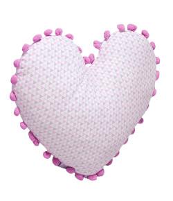 Almofada Batistela Baby Formato de Coração Rosa - 79013
