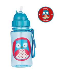 Garrafinha Skip Hop Straw Bottle Coruja Zoo 12m+A-15-005