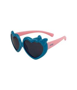 Óculos Escuro Infantil Clingo Coração Azul e Rosa 36M+