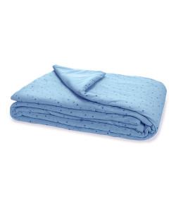 Edredom Estampado estrelinhas Hug Azul
