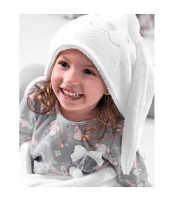 Cobertor com Touca Hug Branco