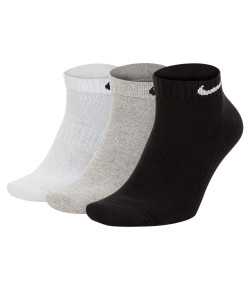 Meia Curta Tripack Nike Cush Low 3PR Preta, Branca e Cinza Tamanho:34 a 38