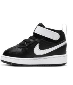 Tênis Nike Infantil Court Borough MID 2 (TDV) Preto V21 CD7784 010